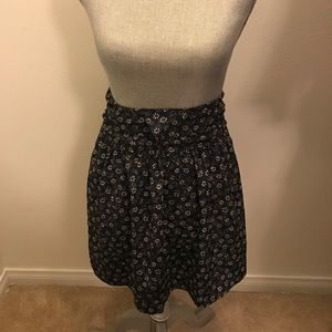 Urban Renewal Navy Blue Floral 90s Mini Skirt